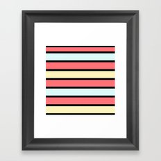 Color band 70's - Formica Stripe Framed Art Print