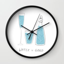 Water is Good Wall Clock