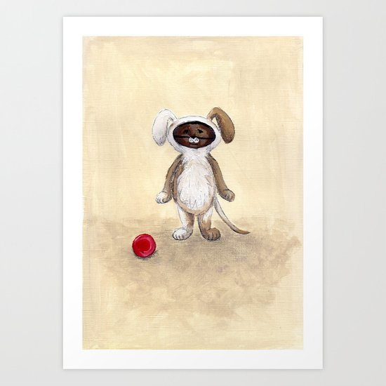 I'm A Dog! Woof! Art Print