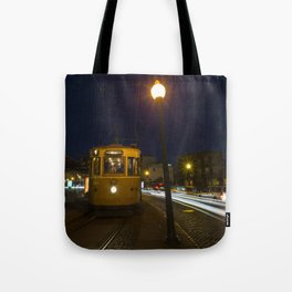 Porto Night Tram Tote Bag