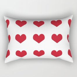 Hearts pattern red and white minimal modern essential valentines day gifts for anyone love Rectangular Pillow