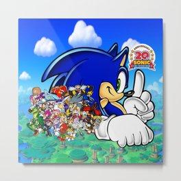 Sonic the Hedgehog 20th Anniversary Metal Print