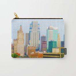 Downtown Kansas City Skyline Tilt Shift Photograph Carry-All Pouch