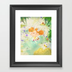 Mushroom hunt Framed Art Print