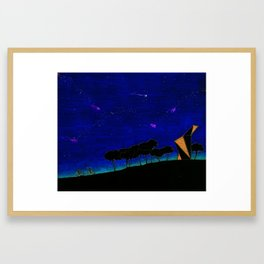 Starry ride Framed Art Print