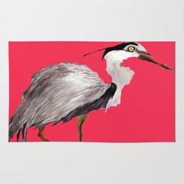 Magenta Heron Rug