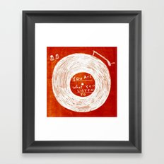 you are what you listen to, RED Framed Art Print