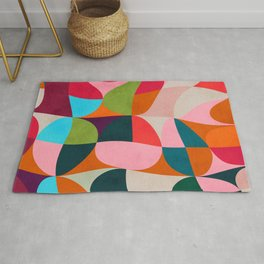 shapes spring colors Rug