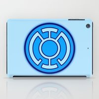 green lantern iPad Cases featuring Green Lantern: Blue Lantern by The Barefoot Hatter