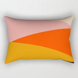 Geometric Sunset Print - art, interior, drawing, decor, design, bauhaus, abstract, decoration, home, Rectangular Pillow