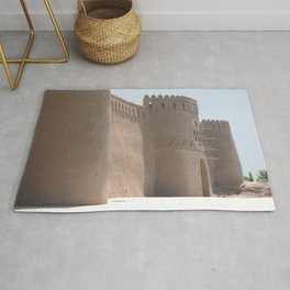 Yazd City Gate Towers Castle, Persia, Iran Rug