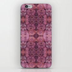 Dark florals-hippie, psychedelic, woodland, mandala, purple, red iPhone & iPod Skin