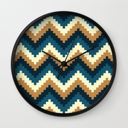 Pixelate Pattern Wall Clock