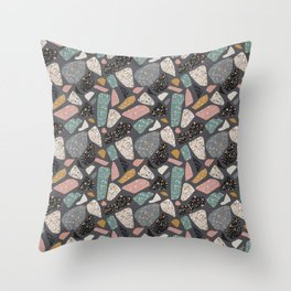 Abstract terrazzo pattern Throw Pillow