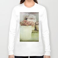 vintage flowers Long Sleeve T-shirts featuring Vintage Street Flowers by Victoria Herrera