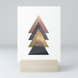 Geometric, Valley, Minimalist, Scandinavian Art Mini Art Print
