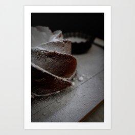 Bundt Cake  Detail   Food   Cupcake   Baking   Kitchen   Powdered Sugar  Art Print Art Print