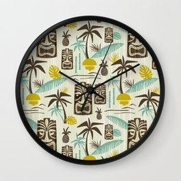 Island Tiki - Tan Wall Clock