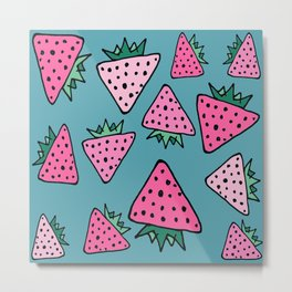 strawberry blue Metal Print