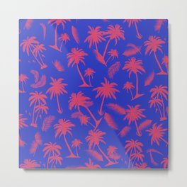 Tropical leaf pattern 15.1 Metal Print