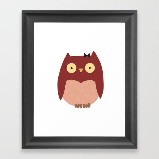 Girl Owl Framed Art Print