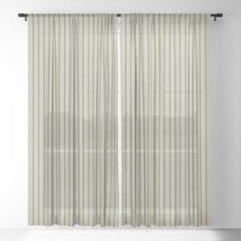 Brown ticking stripes Sheer Curtain