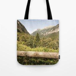 A mountain landscape Tote Bag