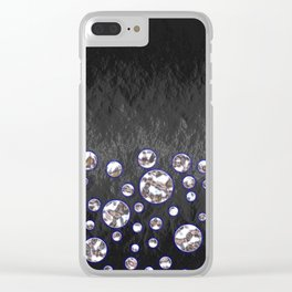 Asteroid Belt of Silver Moons Clear iPhone Case