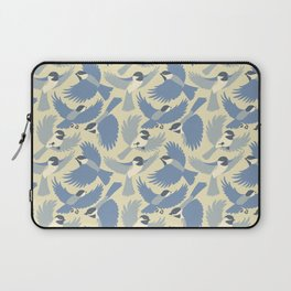 Chickadees  in Blue Laptop Sleeve