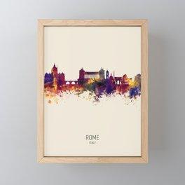 Rome Italy Skyline Framed Mini Art Print