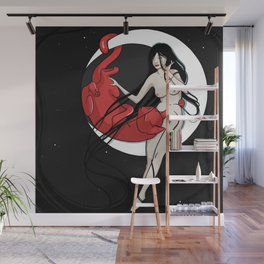 Moon cat Wall Mural