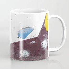 Geometric abstract free climbing bouldering holds pink yellow Coffee Mug