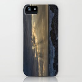 Sunset and God beams iPhone Case