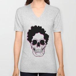 Skull - Digital Ilustration Unisex V-Neck