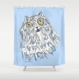 Grouchy Cat Master 3000 Shower Curtain