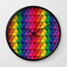 Color Me a Rainbow Wall Clock
