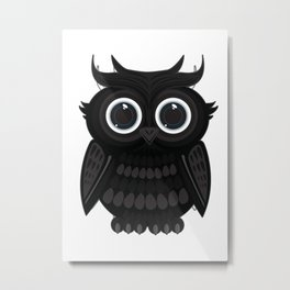 Black Owl Metal Print