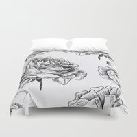 roses Duvet Covers featuring Roses  by Caitlin Workman