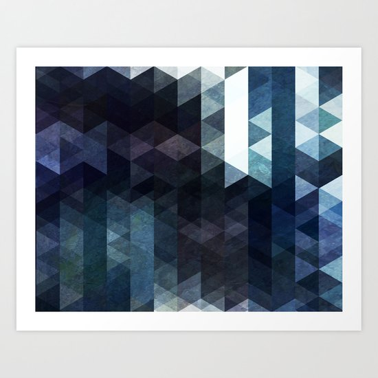 BF Triangles Art Print