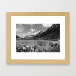 Tern Lake - Mono 2 Framed Art Print