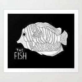 Fish at Night Art Print