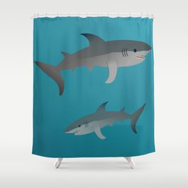 Sharks Shower Curtain