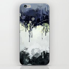 Modern Indigo Eclipse Abstract Design iPhone Skin