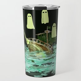 ghost pirate boat Travel Mug