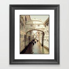 ponte dei sospiri Framed Art Print