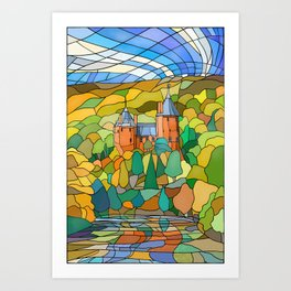 Castell Coch Reflections Art Print