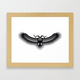 Horned Owl on the Hunt Framed Art Print