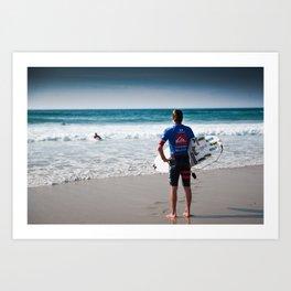 Pro Surfer Web Simpson Art Print