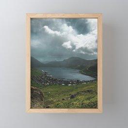 Fuglafjørður Framed Mini Art Print