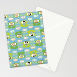 mabo & jimmy garden - blue Stationery Cards